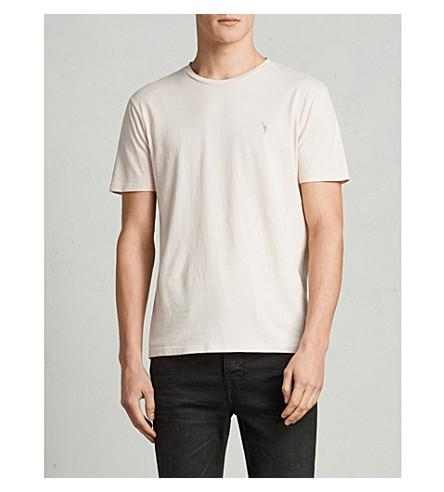 Allsaints Ossage Cotton-jersey T-shirt In River Pink