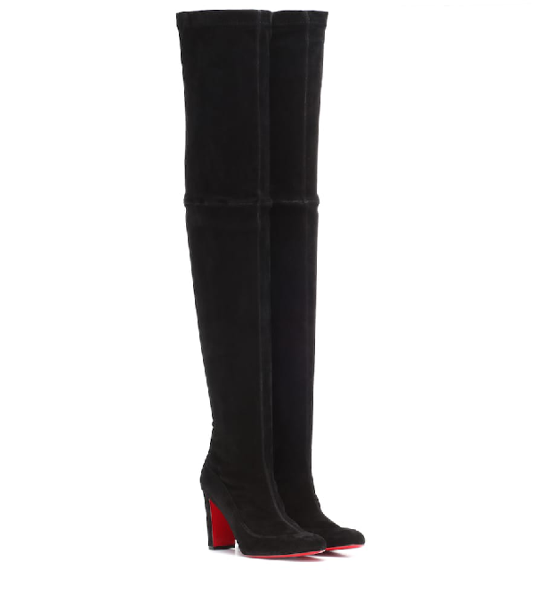 707b977df31 Kiss Me Gena 85 Suede Over-The-Knee Boots in Black