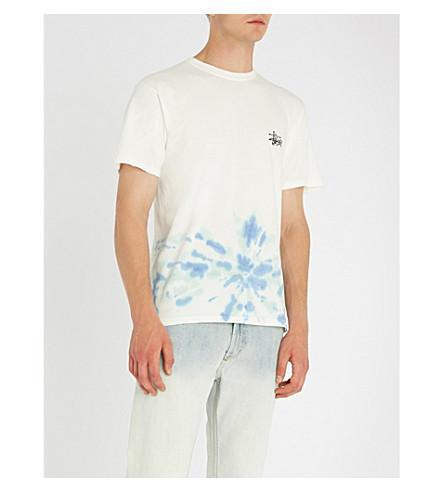 9072c9c0ac7f Stussy Tie-Dyed Cotton-Jersey T-Shirt In Natural Blue | ModeSens