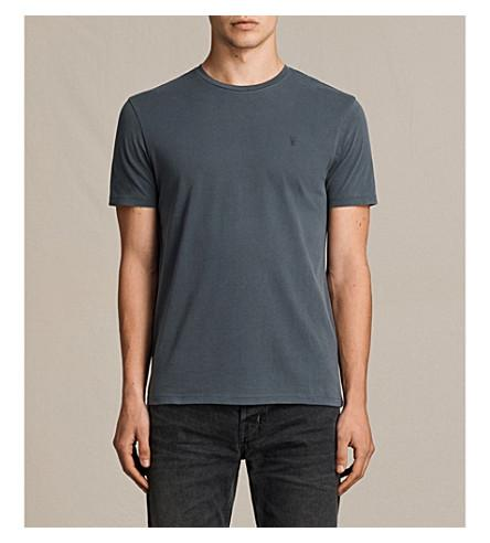 Allsaints Ossage Cotton-Jersey T-Shirt In Washed Black