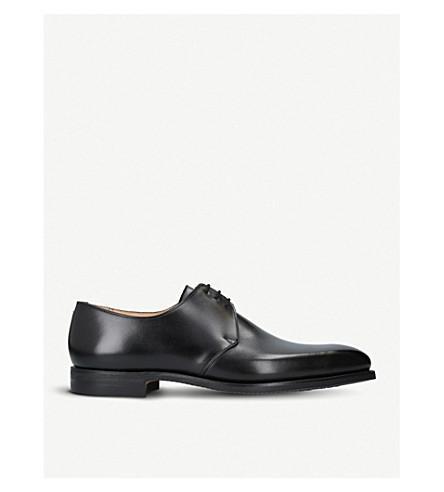 Crockett & Jones Highbury Leather Derby Shoes In Black