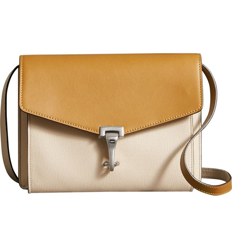 4a0be2e393 Burberry Small Macken Colorblock Leather Crossbody Bag - Yellow In  Cornflower Yellow  Limestone