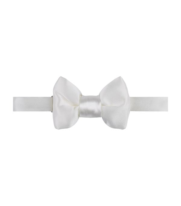 Tom Ford Pre-tied Silk Bow Tie In White