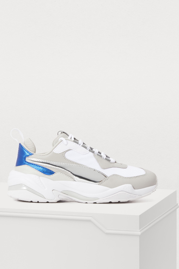 Puma Women's Thunder Electric Color-Block Lace Up Sneakers In White