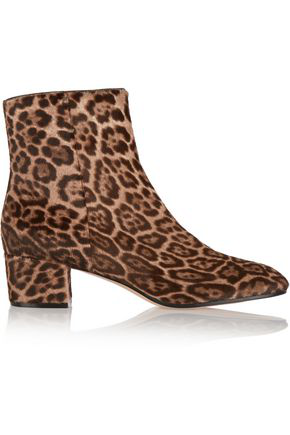 ce09068d7f2a Gianvito Rossi Leopard-Print Calf-Hair Ankle-Boots In Brown-Tone Leopard
