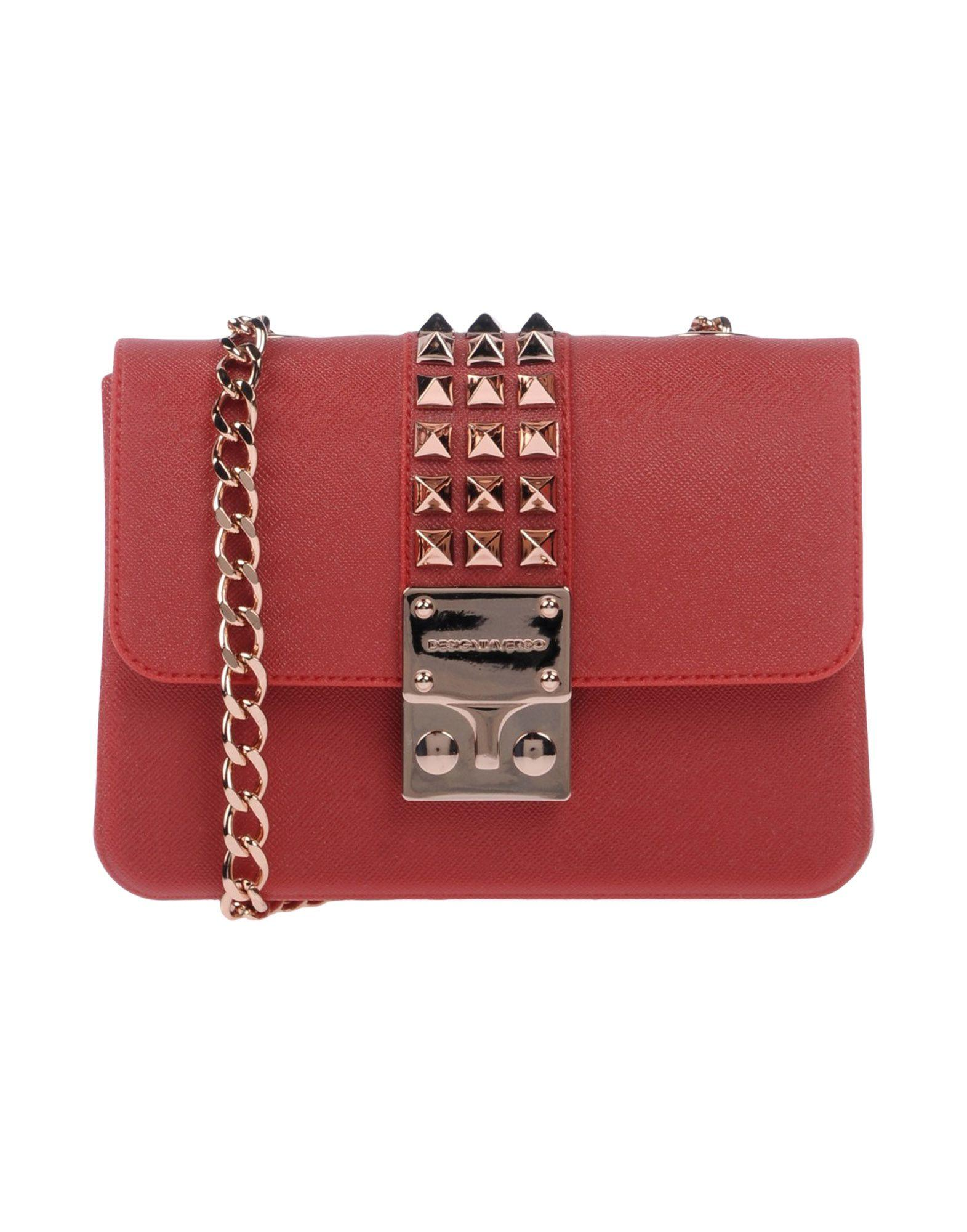 Designinverso Cross-Body Bags In Red