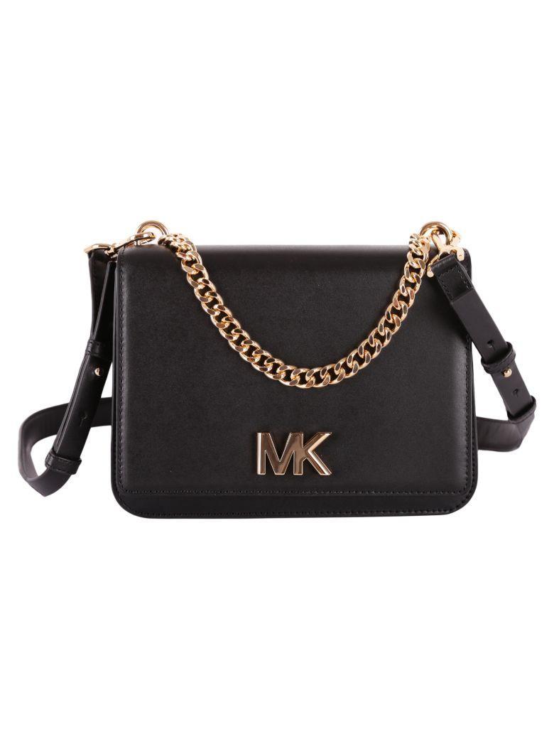 cca2f478a08c Michael Michael Kors Mott Leather Crossbody Bag In Black