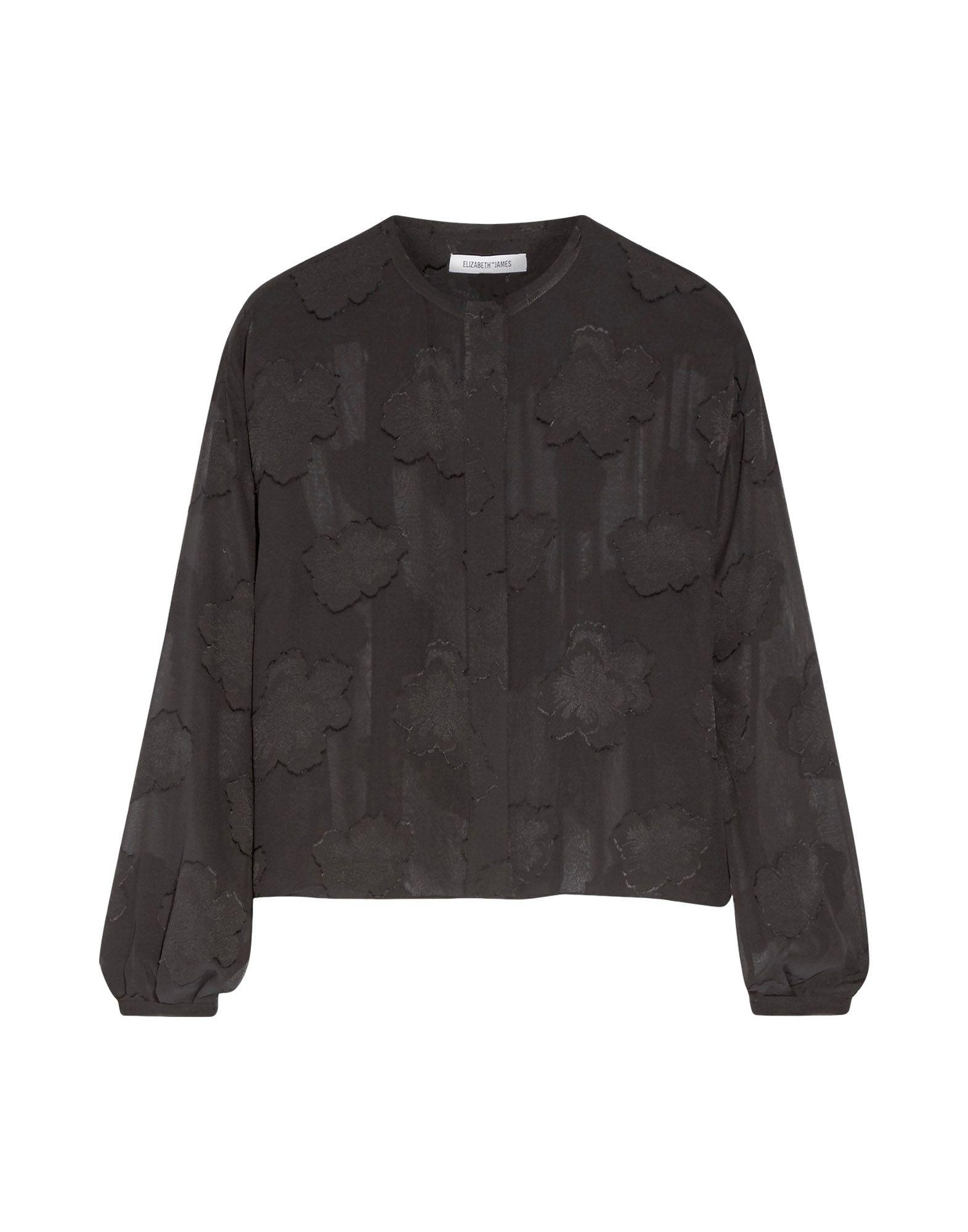 Elizabeth And James Silk Shirts & Blouses In Black