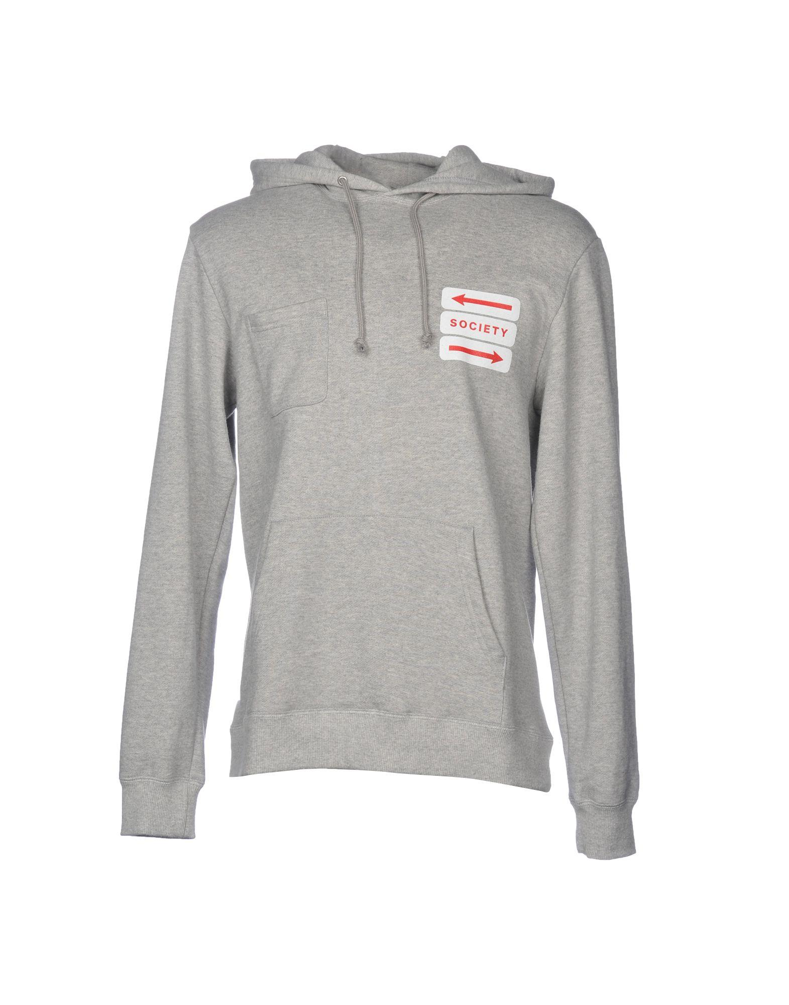 Society Hooded Sweatshirt In Light Grey