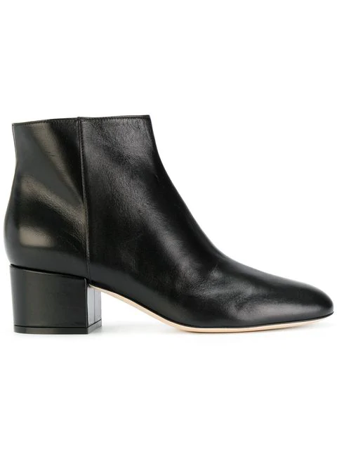 Sergio Rossi Virginia Leather Ankle Boots In Black