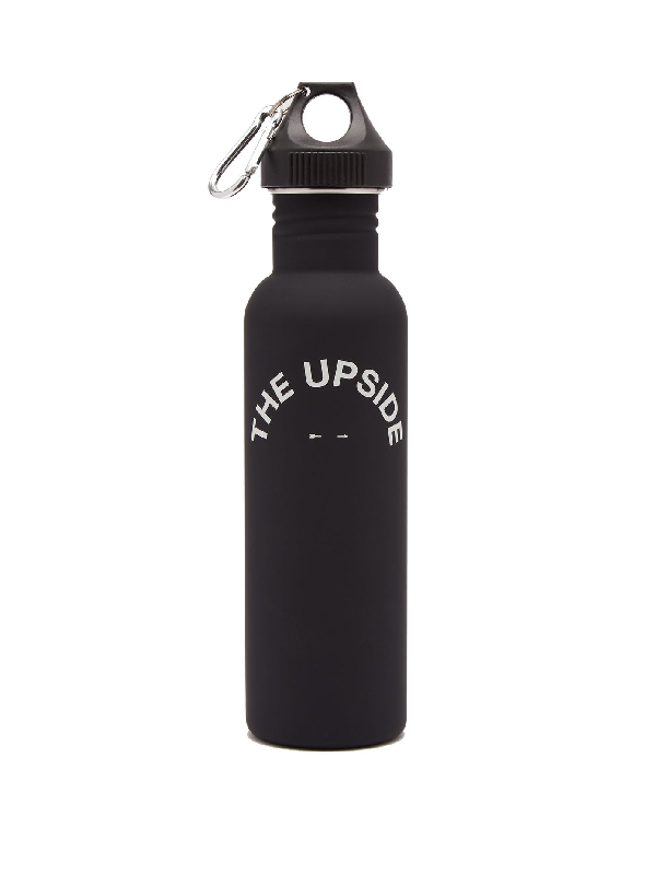 The Upside Logo-print Water Bottle In Black