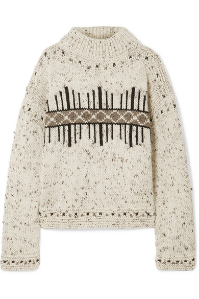 Isabel Marant Elwyn Wool-blend Sweater In Ecru