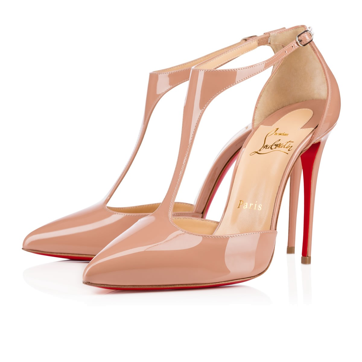 Christian Louboutin Nude Patent - Pigalle Leather 85mm