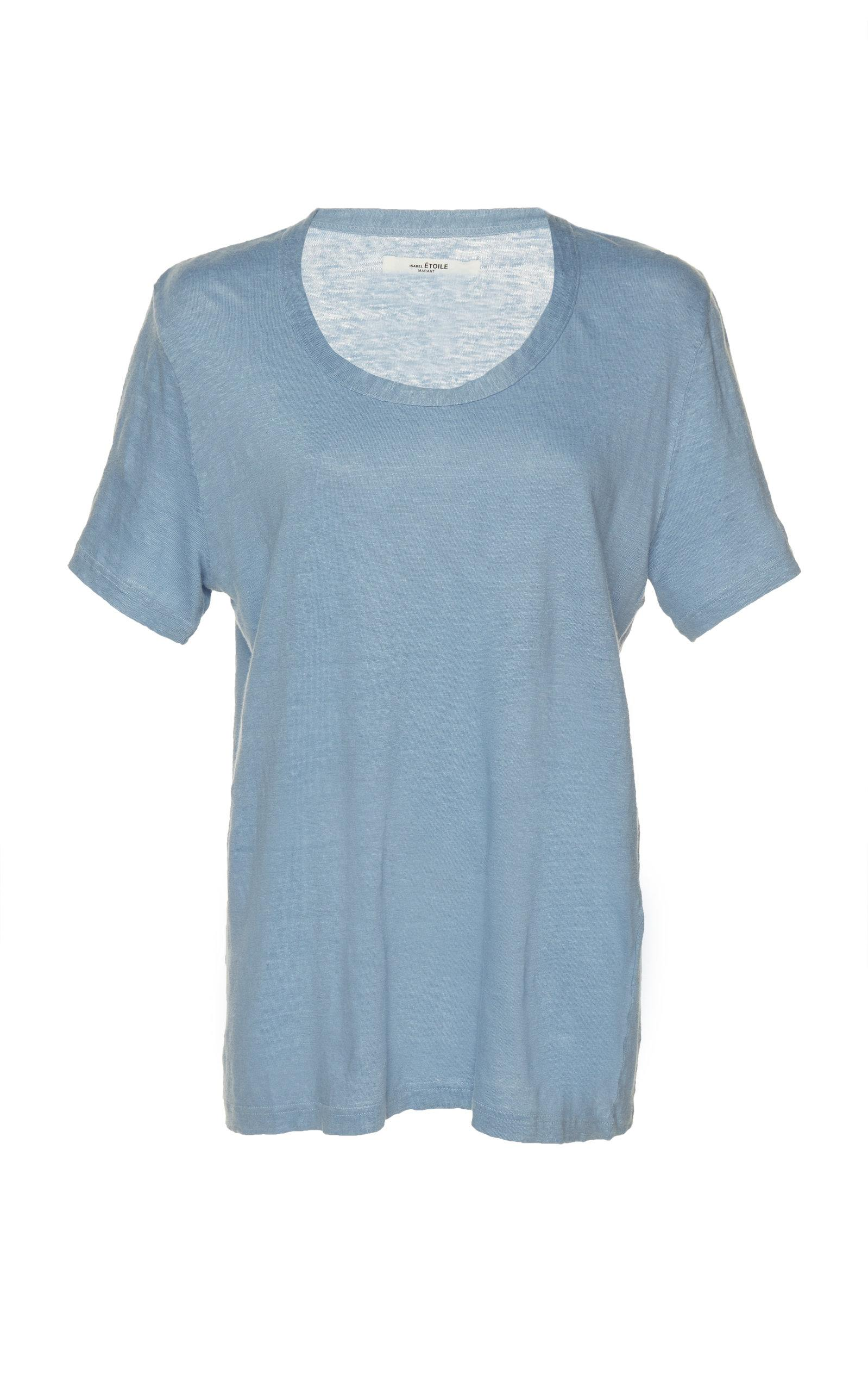 ffdd074264 Etoile Isabel Marant Kiliann Linen T-Shirt In Blue