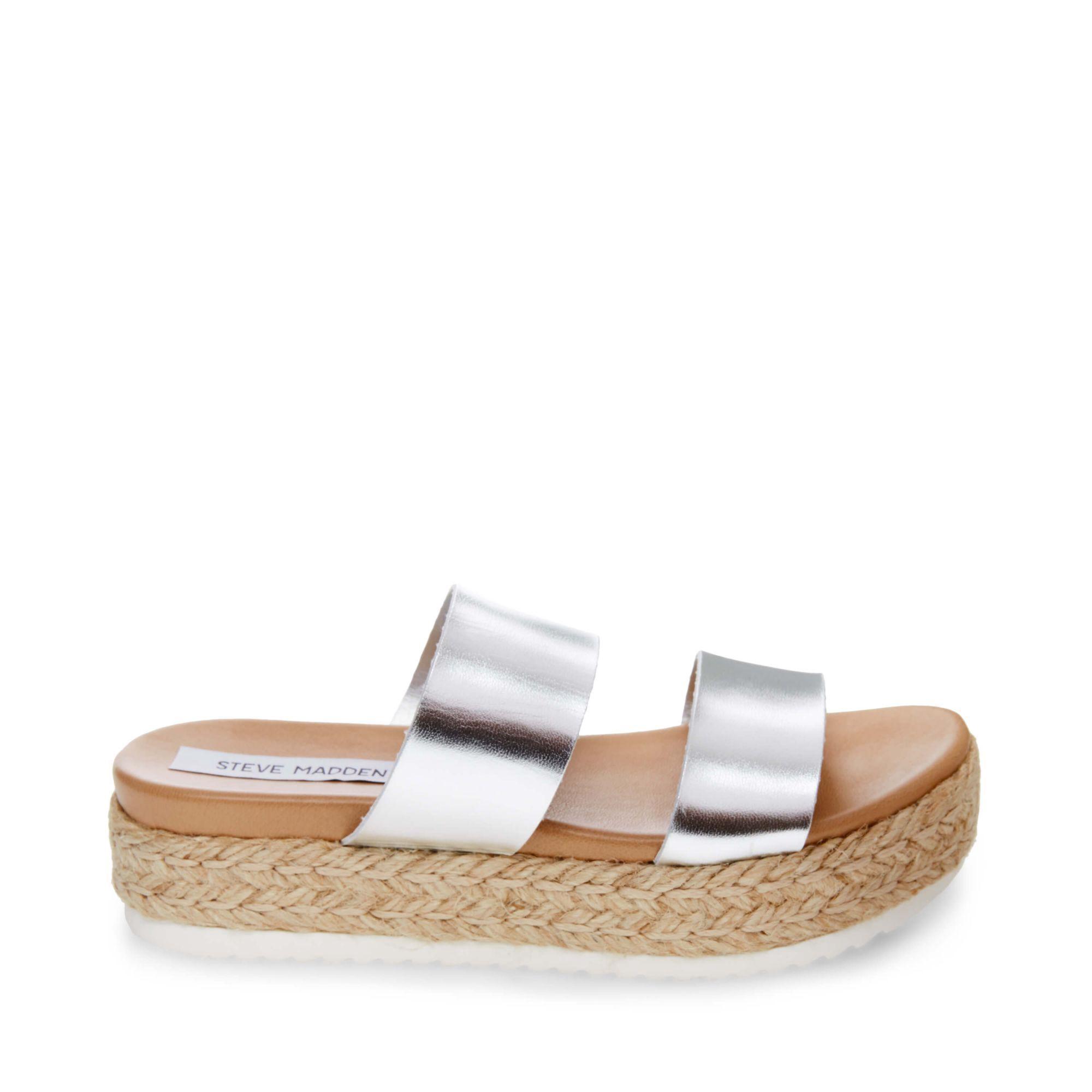 a89403f24d1 Amaze Platform Slide Sandal in Silver Leather