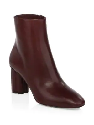 Salvatore Ferragamo Molfetta Leather Ankle Boots In Burgundy