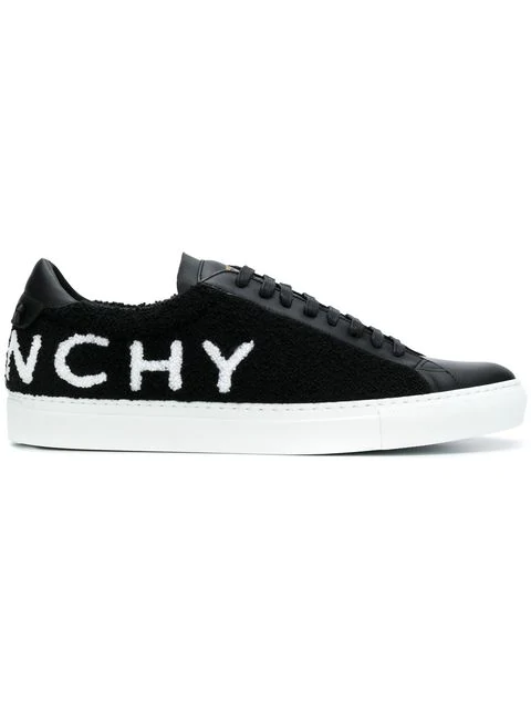 Givenchy Men's Urban Street Logo-Print Leather Tennis Sneakers In Black