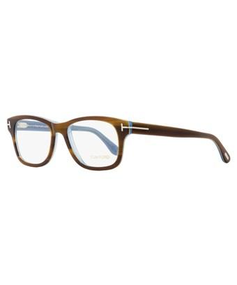 54b0dc3e6b Tom Ford Rectangular Eyeglasses Tf5147 056 Striped Havana Light Blue 52Mm  Ft5147