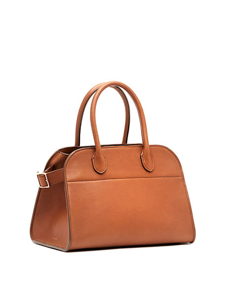 64ca185b9d The Row Margaux 10 Smooth Calfskin Top Handle Bag In Brown | ModeSens