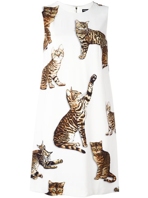 971d5421ae9 Dolce   Gabbana Bengal Cat Print Dress