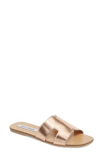 cbd1ee691b9 Steve Madden Sayler Slide Sandal In Rose Gold