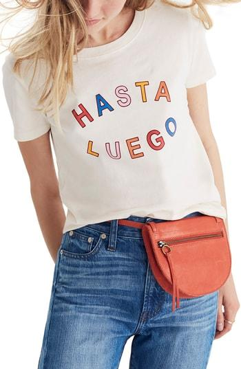 Madewell Hasta Luego Graphic Tee In Vintage Lace