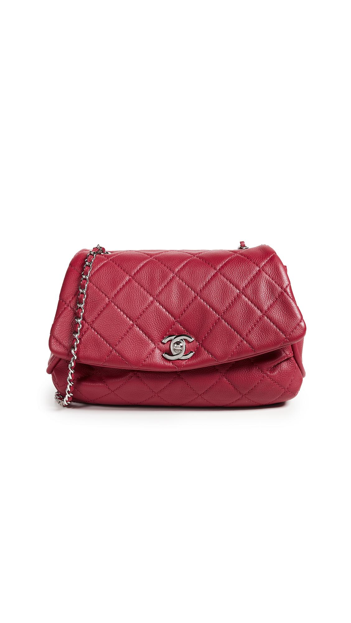 8471694c09c7 What Goes Around Comes Around Chanel Lambskin Round Flap Bag In Red ...