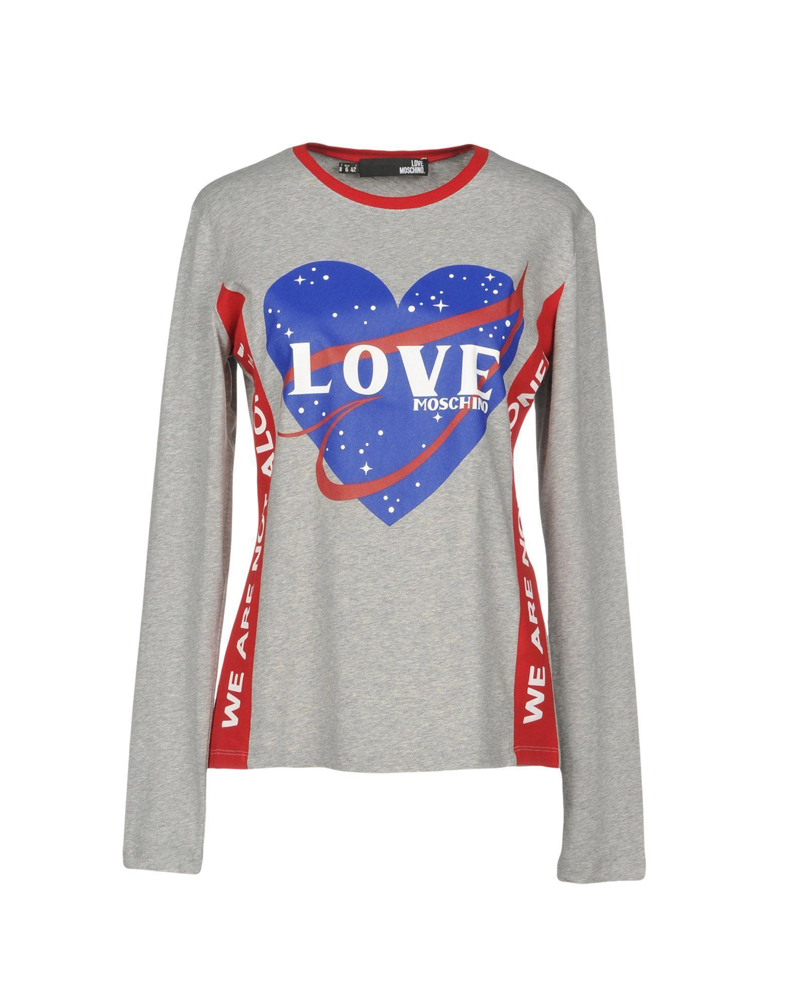 497b49ecf53207 Love Moschino T-Shirts In Grey   ModeSens