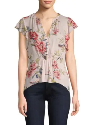 f8d3f46a9496 Joie Silk Floral Top In Rosewater | ModeSens