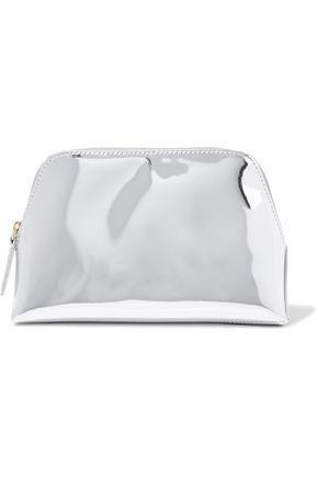 Diane Von Furstenberg Woman Gingham Leather Cosmetics Case Silver