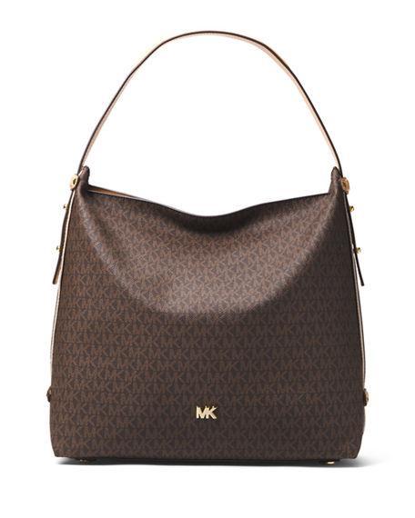 a6c3df6ca760 Michael Michael Kors Griffin Large Logo Hobo Bag In Brown