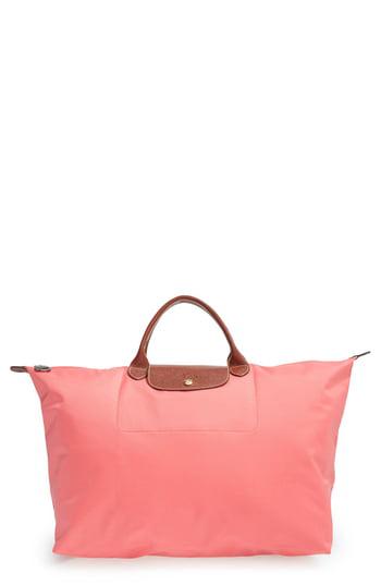 39d6d1cf6dc Longchamp Le Pliage Club Large Nylon Canvas Travel Bag In Dahlia ...