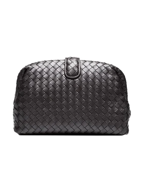 702deaf93d564 Bottega Veneta Metallic Lauren 1980 Clutch In Grey | ModeSens