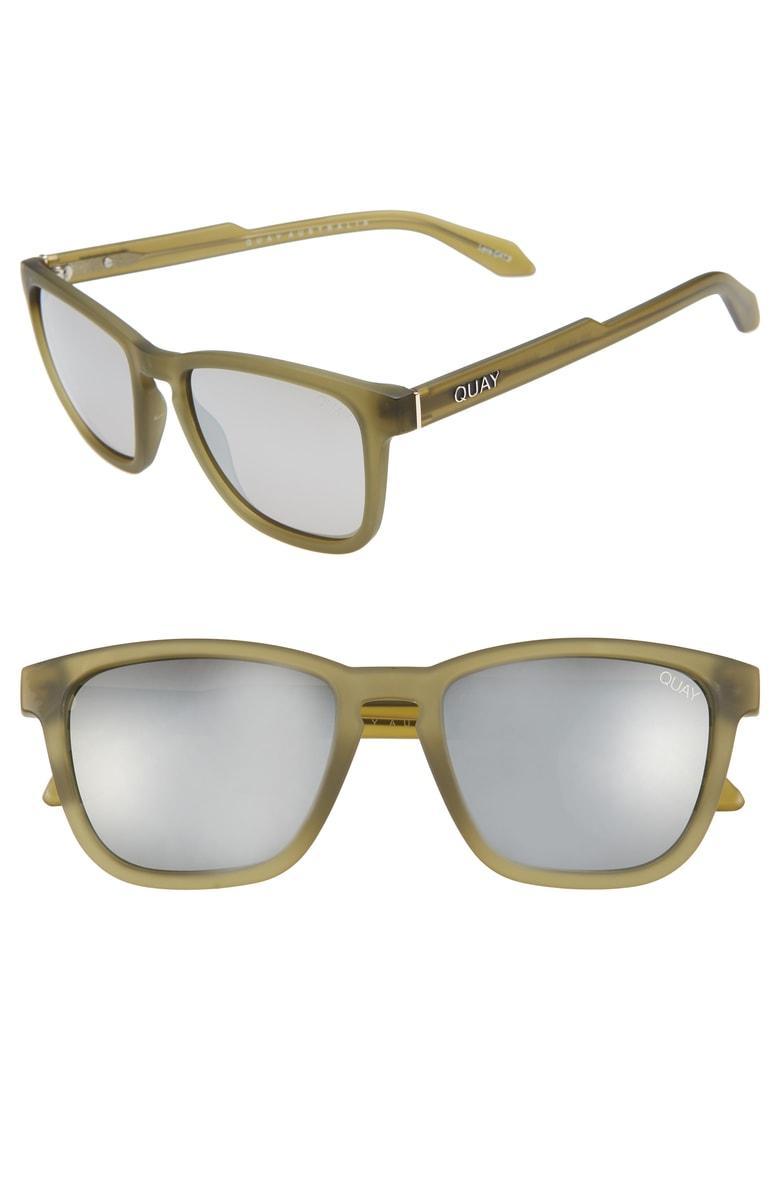 bcb53ceb8b Quay Hardwire 54Mm Polarized Sunglasses - Olive  Silver Mirror ...