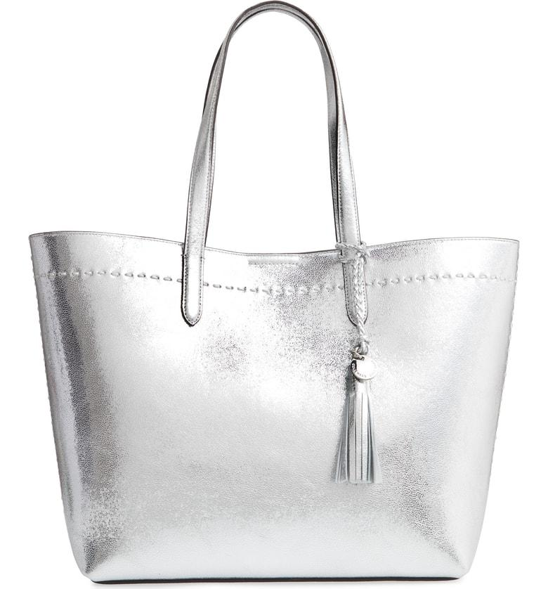 b5106e88b5 Cole Haan Payson Metallic Leather Tote - Metallic In Ch Silver ...