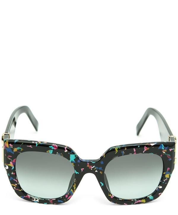 a96d56f4d273 Marc Jacobs 110 S Chunky Square Sunglasses In Black   ModeSens