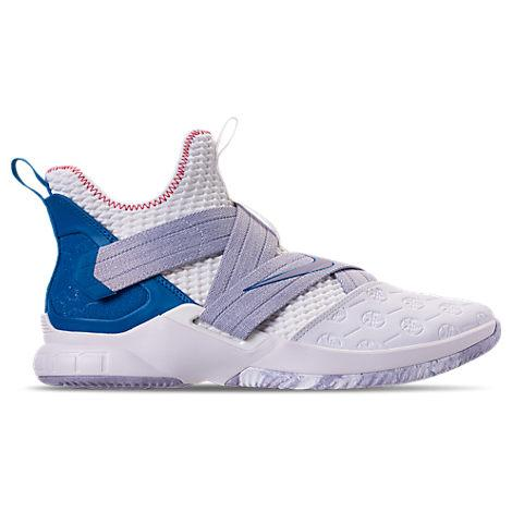 online retailer 3604a c95ea Boys' Grade School Lebron Soldier 12 Basketball Shoes, White