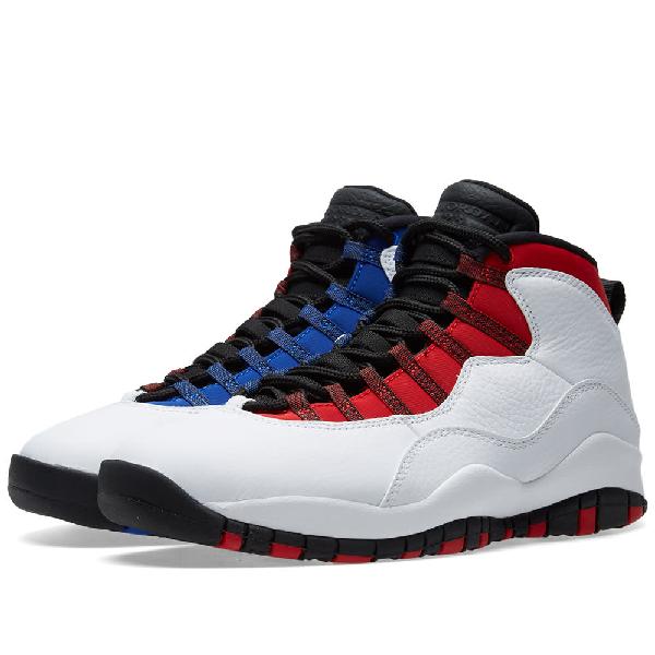 buy online 5c074 85681 Nike Men s Air Jordan 10 Retro Basketball Shoes, White Red