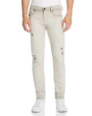 7dee7a72986 Diesel Tepphar 676M Distressed Jeans, Light Gray In Denim | ModeSens