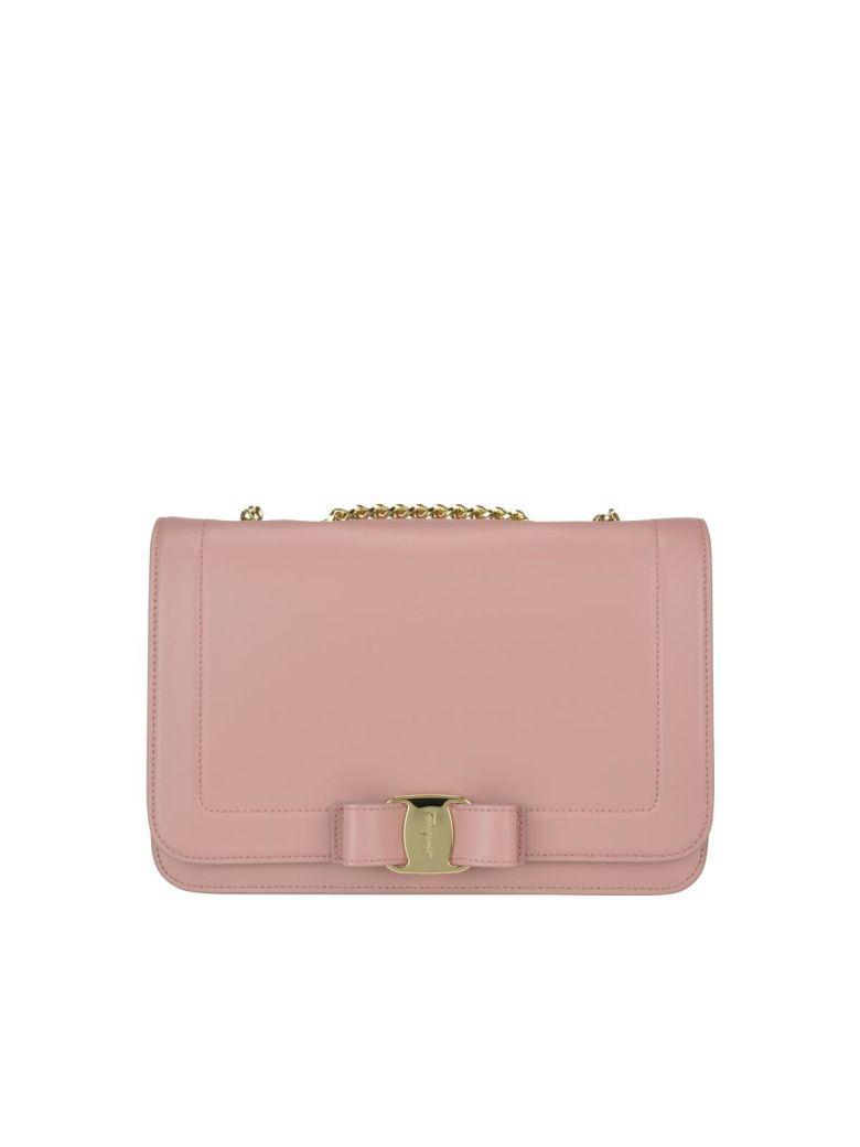 a40a9286c8 Salvatore Ferragamo Vara Leather Crossbody Bag - Pink In Antique Rose