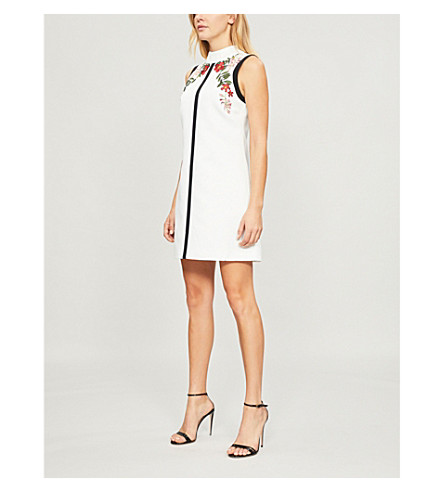 cb87830e9ae Ted Baker Aimmiid Kirstenbosch Embroidered Woven Tunic Dress In Ivory