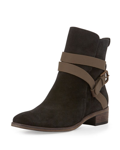 See By ChloÉ Janis Suede Ankle Boot In Taupe/Klack