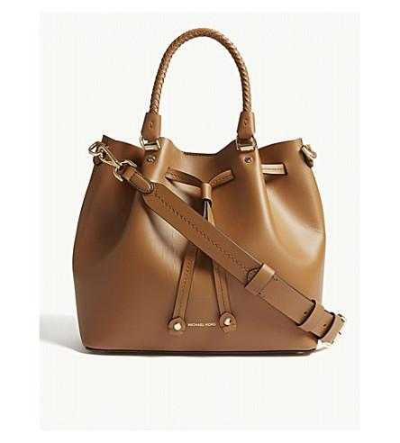 e0727f5d7 Michael Michael Kors Michael Kors Ladies Acorn Brown Blakely Leather Bucket  Bag