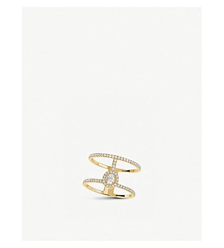 Messika Glam'Azone 2 Rows 18Ct Yellow-Gold And PavÉ Diamond Ring