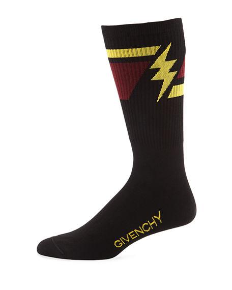 Givenchy Colorblocked Cotton-Blend Ankle Socks - Black