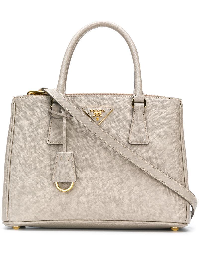 d81630090086 Prada Galleria Medium Saffiano Tote Bag In Grey