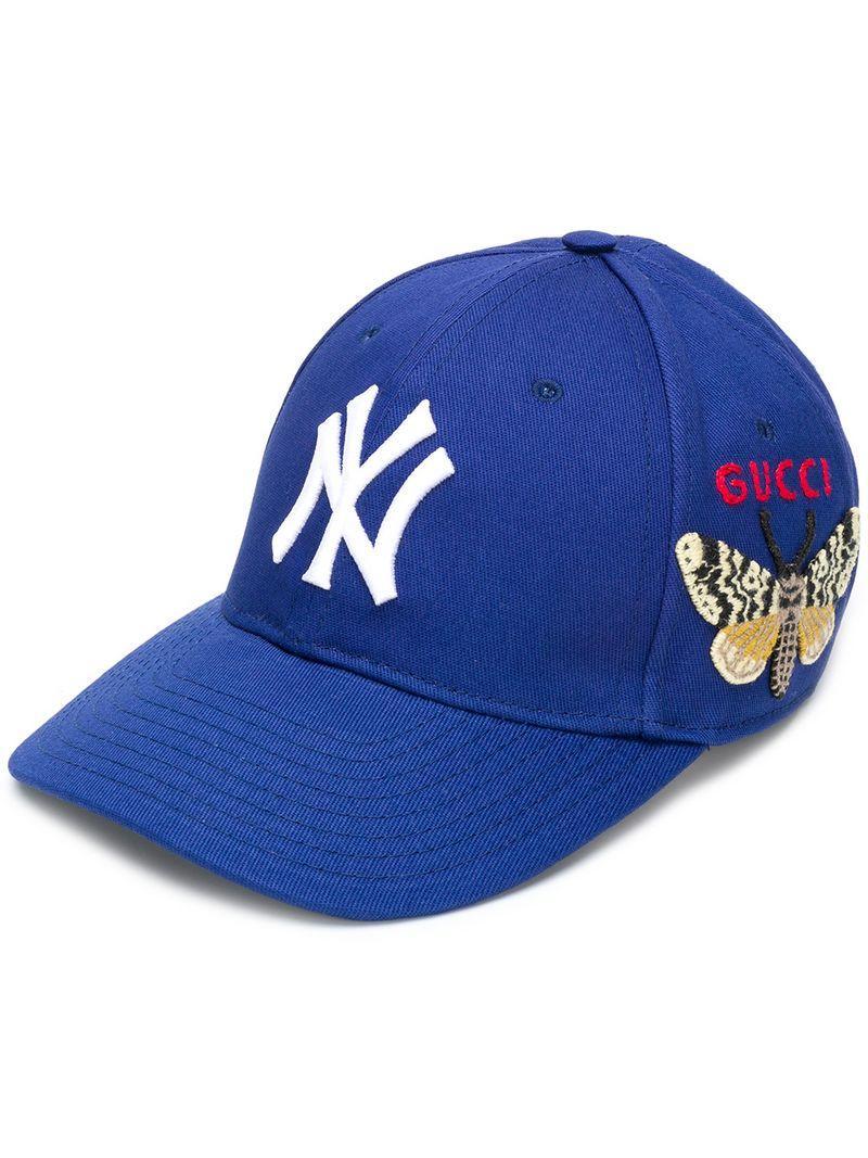5fa74bdd9cce Gucci Ny Yankees Patch Baseball Cap | ModeSens