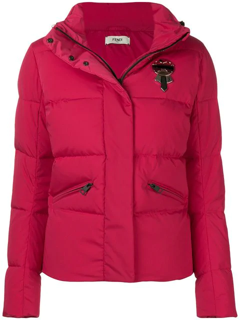 Fendi Karlito Padded Jacket In Red