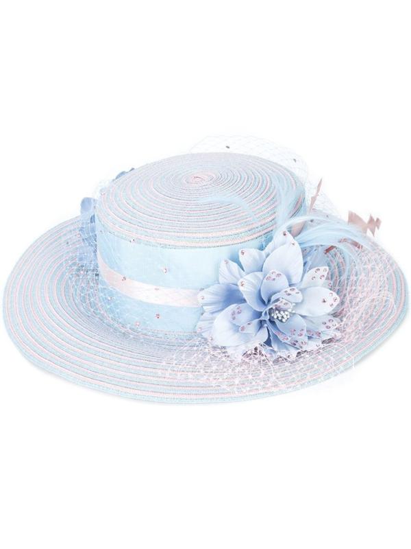 Gigi Burris Millinery Twinkle Antoinette Hat In Blue