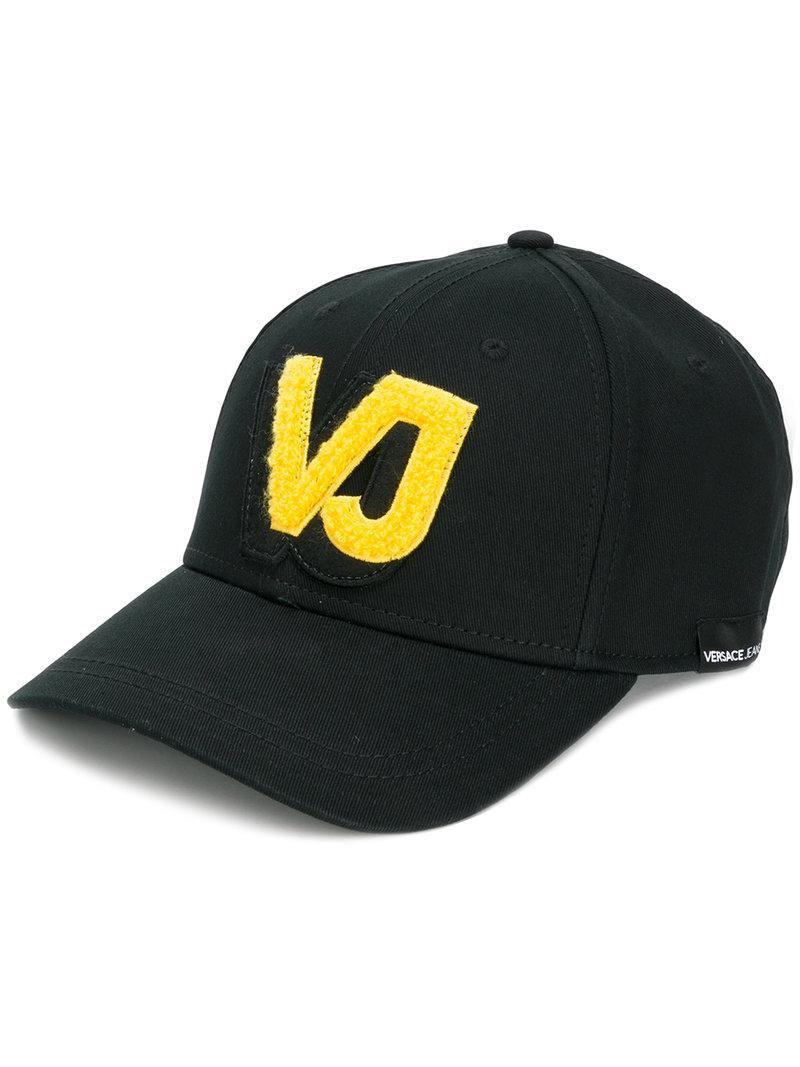 ad51690b298 Versace Jeans Logo Applique Baseball Cap - Black